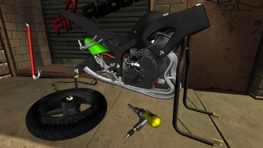 3D motorcycle mechanic simulator! Build, repair, and mod your bike!